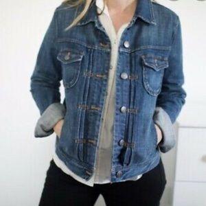 J. Crew distressed denim jean jacket